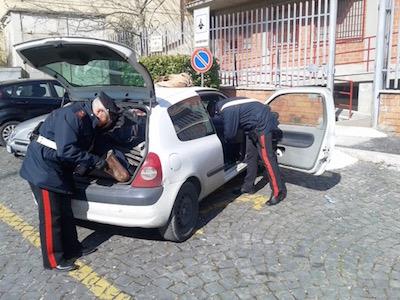 perquisizione veicolo Carabinieri