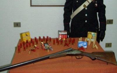 sequestro fucile e proiettili