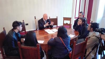 Campobasso, delegazione di studenti questa mattina in comune