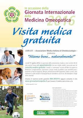 Giornata Internazionale della Medicina Omeopatica 2016, l'11 aprile anche in Molise