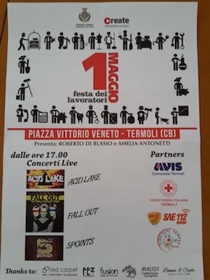 Termoli, Primo Maggio tre concerti in piazza Monumento