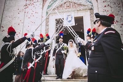 Matrimonio in alta uniforme per un Carabiniere del Comando Provinciale di Isernia