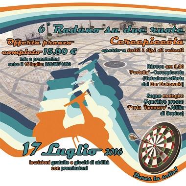VI Raduno su due ruote il 17 luglio a Cercepiccola