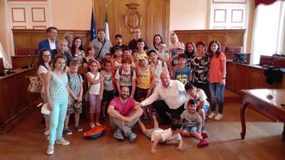 Campobasso visita dei ragazzi del Campus al Comune