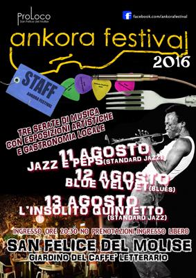 Ankora Festival 2016, Jazz a San Felice del Molise