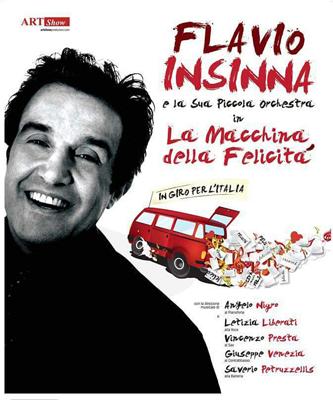 Flavio Insinna e la sua piccola orchestra