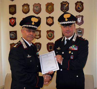 Foto premiazione Maggiore Vitiello