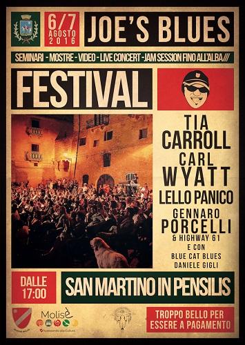 Joe's Blues Festival 2016 a San Martino in Pensilis