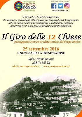 Campobasso, il Giro delle 12 Chiese torna il 25 settembre