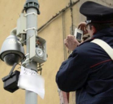 foto sistema videosorveglianza abusivo