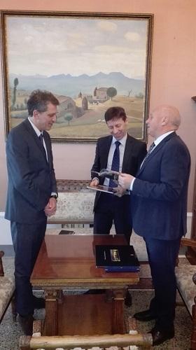 Campobasso, ricevuto a Palazzo San Giorgio il console francese a Napoli
