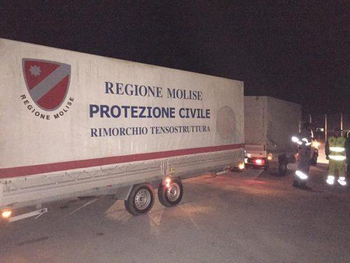 Colonna mobile protezione civile Molise tensostruttura