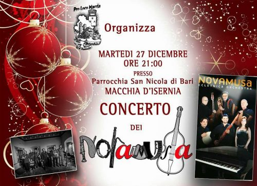 Macchia d'Isernia, il 27 dicembre concerto di Natale con i Novamusa