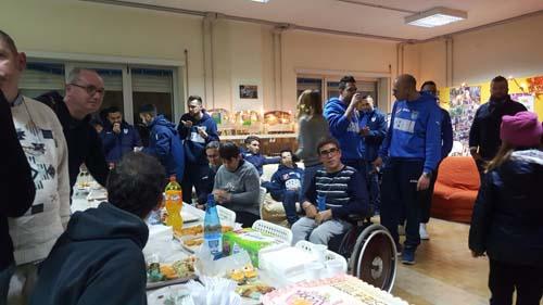 Visita dell'Isernia Calcio a 5 alla cooperativa LAI