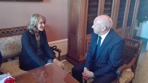 Campobasso: visita del console generale USA, Mary Ellen Countryman