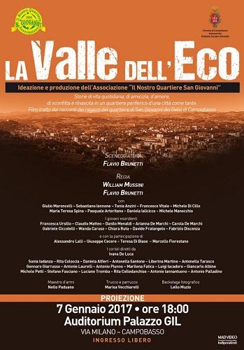 La Valle dell'Eco, il 7 gennaio il mediometraggio a Campobasso