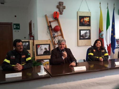 vigili del fuoco e sindaco Termoli