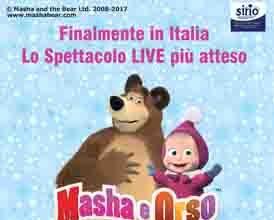 Masha e Orso Live Show il 9 aprile 2017 il musical a Isernia