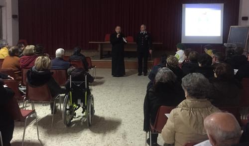 incontro dei Carabinieri con gli anziani della comunità di Sant'Egidio