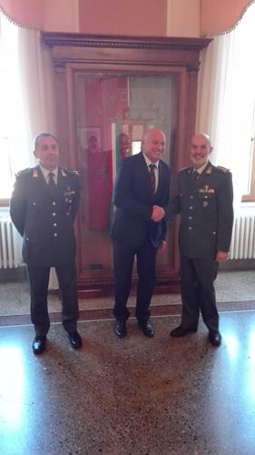 visita comandante interregionale Carlo Ricozzi a comune di Campobasso