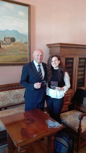 i complimenti del sindaco a Anna Di Paola