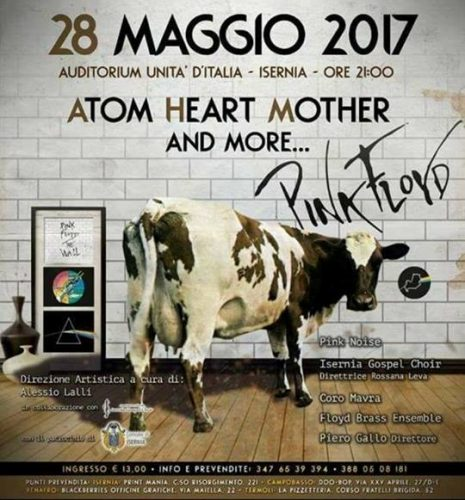 """Atom Heart Mother and more..."", la musica dei Pink Floyd all'Auditorium Unità d'Italia di Isernia"