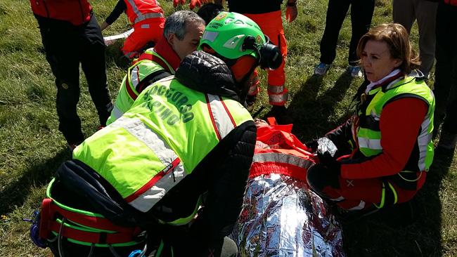 Corpo Nazionale Soccorso Alpino e Speleologico per soccorso a ciclista a Roccamandolfi