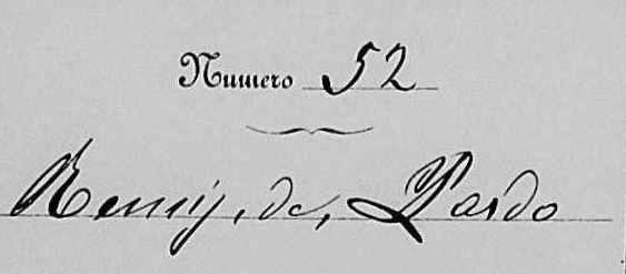 Il n. 52 del registro sul quale venne registrata la sua nascita