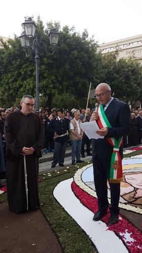 fra Luigi Pio Maria Chiarolanza e sindaco Battista