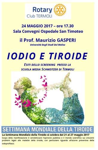 progetto Iodio e Tiroide del Rotary club di Termoli