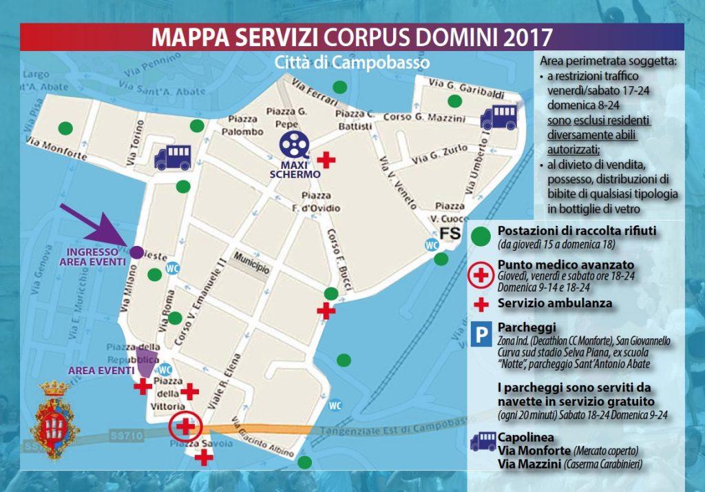 Corpus Domini Campobasso mappa servizi