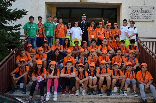 Isernia, visita dei ragazzi dell'Associazione volontari Protezione Civile al Comando Provinciale