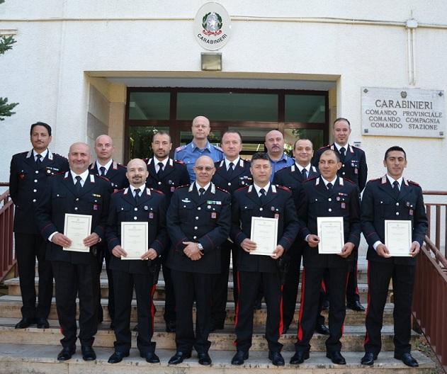 Isernia, croci d'oro e argento a dieci Carabinieri per anziatità di servizio