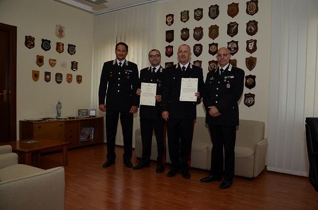 Isernia, arresto marito violento: premiati due Carabinieri