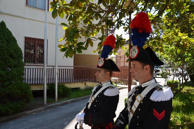 Isernia, servizio di pattuglia a piedi in grande uniforma storica