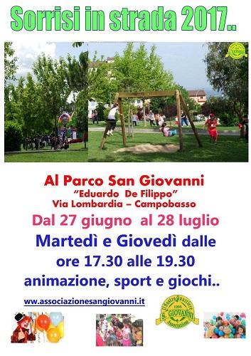 Campobasso, Campus per bambini al Parco S. Giovanni fino al 28 luglio