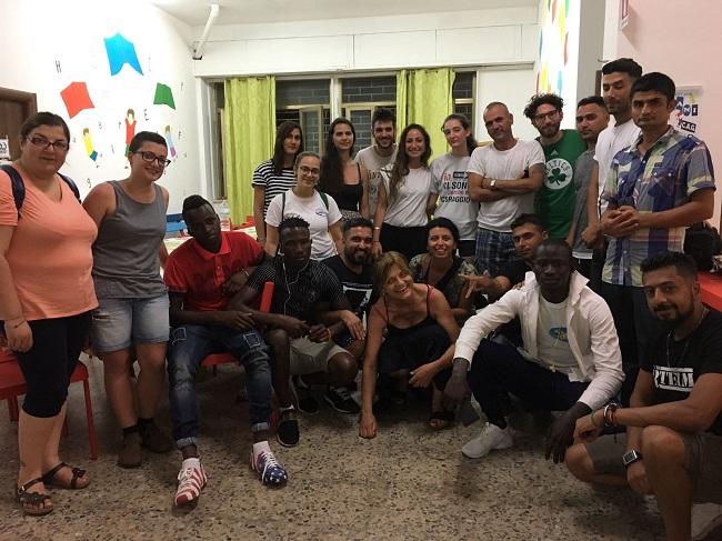 gruppo volontari in Calabria