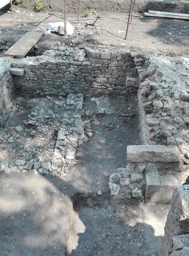particolare dello scavo