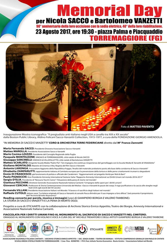 Memorial Day - Torremaggiore 23.08.2017
