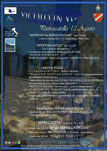 manifesto serata Pietracatella