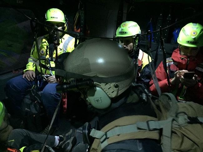 squadra a bordo elicottero