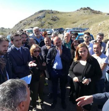 manifestazione sui Monti del Matese a Morcone