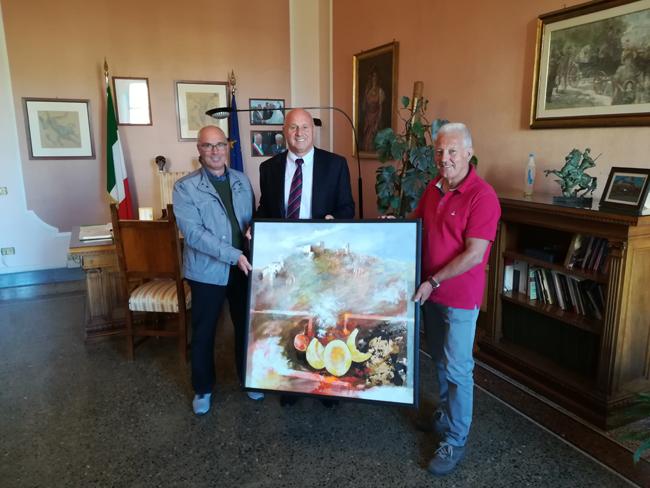 opera vincitrice del Premio Nazionale di Pittura Estemporanea di San Giovannello