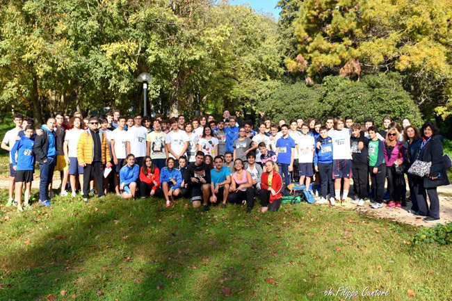 giovani runners dell'I.I.S.S. Alfano