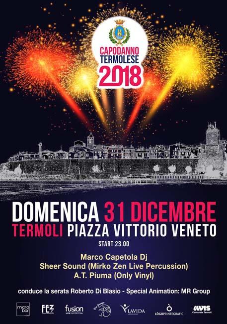 Capodanno 2018 a Termoli: musica e divertimento in piazza