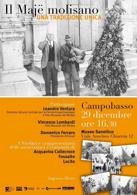 Il Majë molisano venerdì 29 dicembre al Museo Sannitico