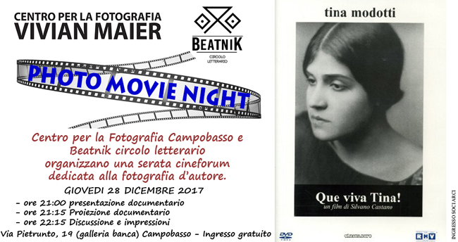 Photo Movie Night 4, giovedì 28 dicembre a Campobasso