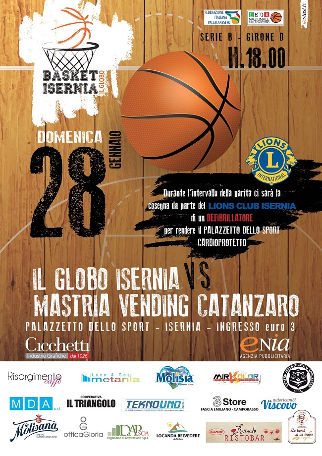 basket Isernia evento 28 gennaio 2018