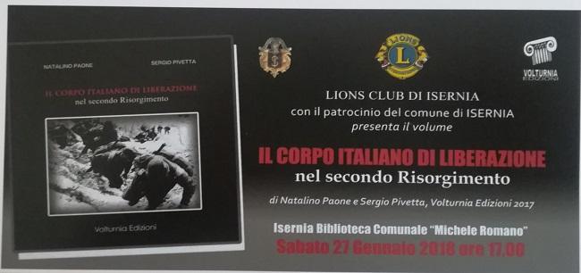 Il Corpo italiano di liberazione nel secondo Risorgimento: presentazione del libro a Isernia
