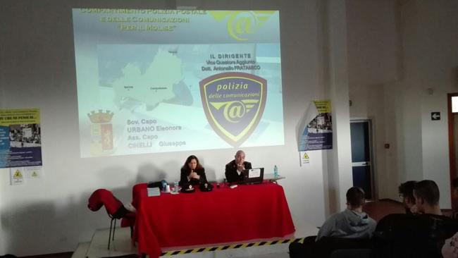 Termoli: incontro domani all'I.I.S.S. Alfano con la polizia postale